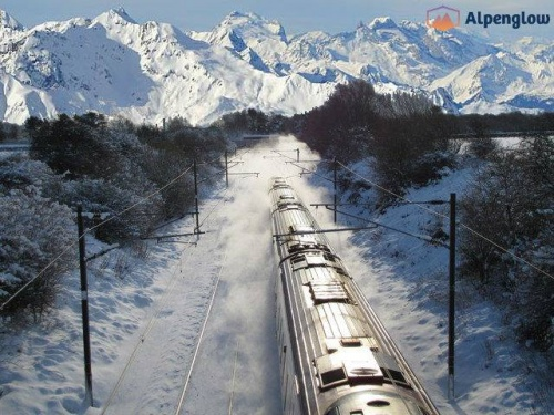 By train to the alps