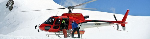 Heli skiing in the Aosta Valley