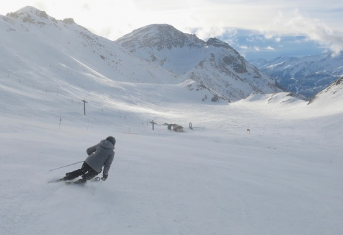 On the piste in Serre Chevalier