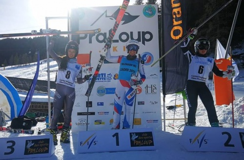 Jasmin Taylor 2nd in the Pra Loup classic 2019