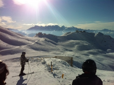 Sunny and uncrowded in Verbier