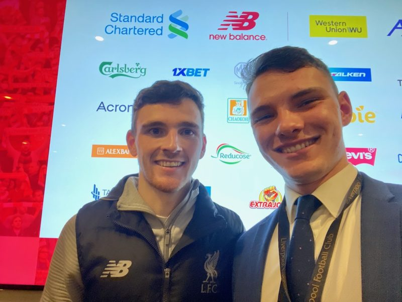 Andy Robertson and Max Cove